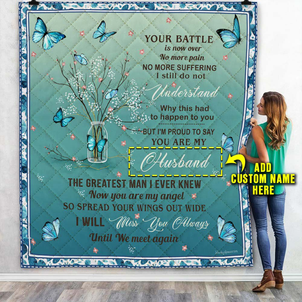 Custom Name Added to your Quilt